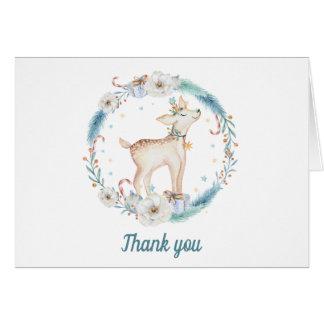 Cartões de agradecimentos bonitos do chá de