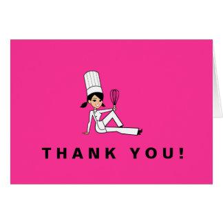 Cartões de agradecimentos bonitos do cozinheiro