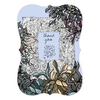 Cartões de agradecimentos bonitos do primavera da