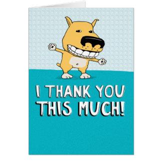 Cartões de agradecimentos bonitos e engraçados: