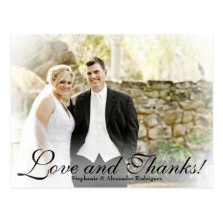 Cartões de agradecimentos brancos da foto do