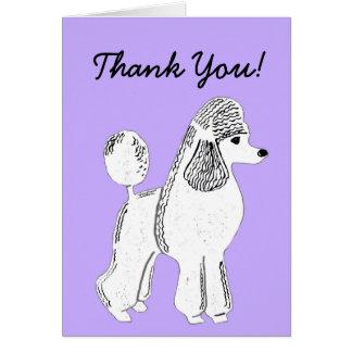 Cartões de agradecimentos brancos da lavanda da