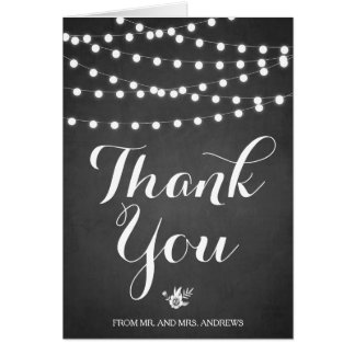 Cartões de agradecimentos brancos do quadro das