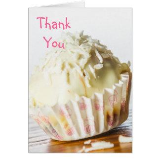 Cartões de agradecimentos brancos dos doces de