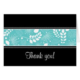 Cartões de agradecimentos brancos pretos da beira