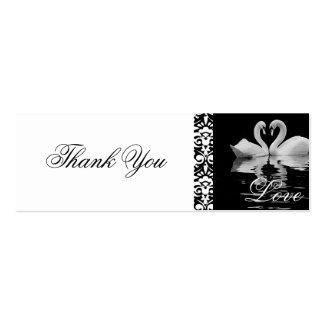 Cartões de agradecimentos brancos tradicionais das cartão de visita skinny