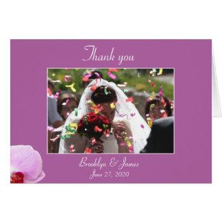 Cartões de agradecimentos brilhantes do casamento