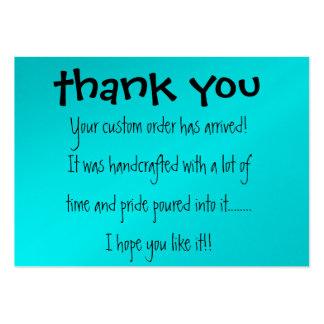 Cartões de agradecimentos cartões de visita