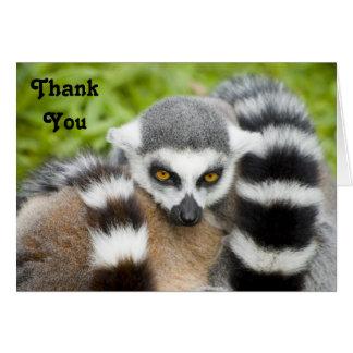 Cartões de agradecimentos - cauda bonito de