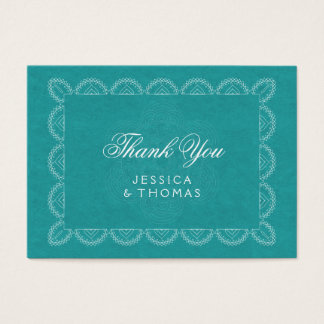 Cartões de agradecimentos chiques da mandala do