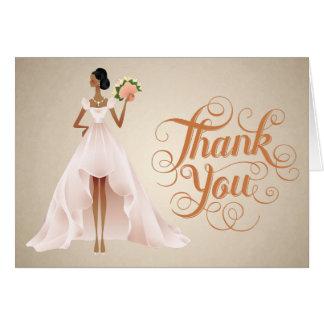 Cartões de agradecimentos chiques do casamento com