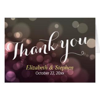 Cartões de agradecimentos chiques do casamento da