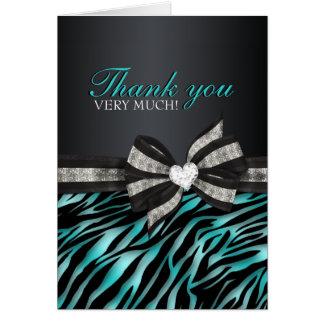 Cartões de agradecimentos chiques do doce