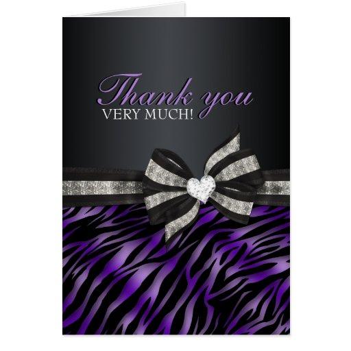Cartões de agradecimentos chiques do doce dezessei