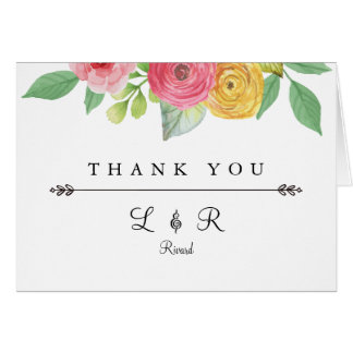 Cartões de agradecimentos chiques rústicos