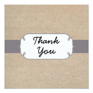 Cartões de agradecimentos cinzentos e bege convite quadrado 13.35 x 13.35cm