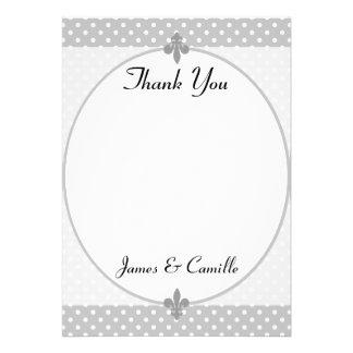 Cartões de agradecimentos cinzentos populares das