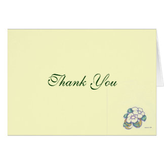 Cartões de agradecimentos clássicos da flor