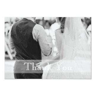Cartões de agradecimentos clássicos do casamento convite 12.7 x 17.78cm