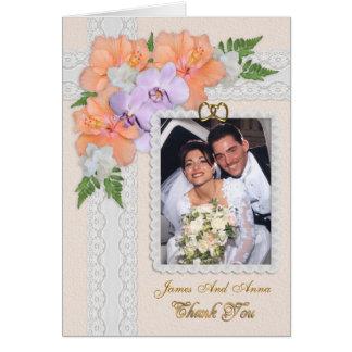 Cartões de agradecimentos com elegância floral da