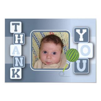 Cartões de agradecimentos com foto - chocalho dos convite 8.89 x 12.7cm