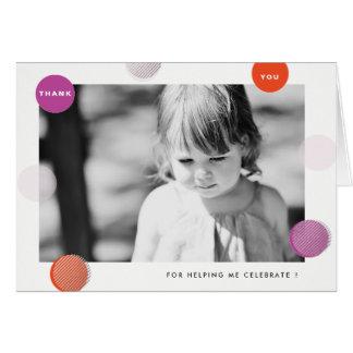 Cartões de agradecimentos com foto e os pontos