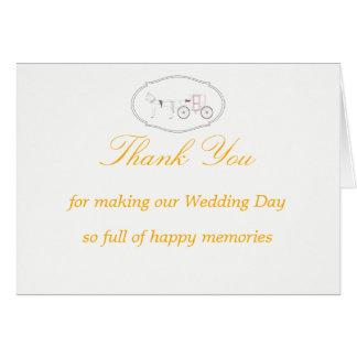 Cartões de agradecimentos com o gráfico do cavalo