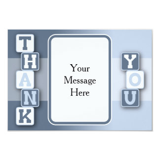 Cartões de agradecimentos com quadro de texto convite 8.89 x 12.7cm