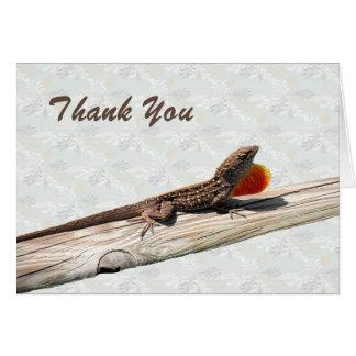 Cartões de agradecimentos com vazio do lagarto de