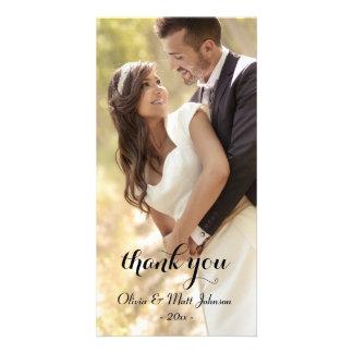 Cartões de agradecimentos completos do casamento