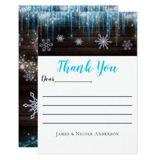 Cartões de agradecimentos congelados do país das