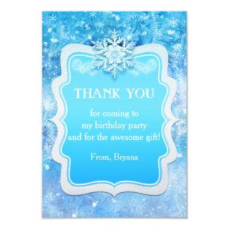 Cartões de agradecimentos congelados do partido do convite 8.89 x 12.7cm