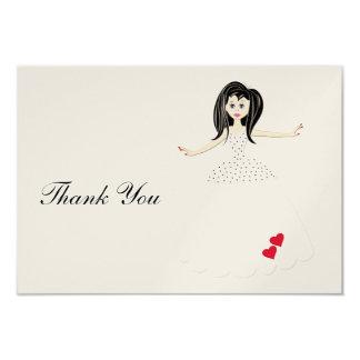 Cartões de agradecimentos convite 8.89 x 12.7cm