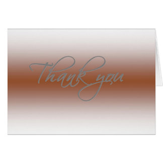Cartões de agradecimentos - Coppertone desvanecido