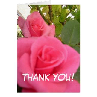 Cartões de agradecimentos cor-de-rosa