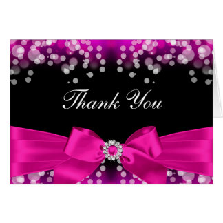 Cartões de agradecimentos cor-de-rosa bonito do