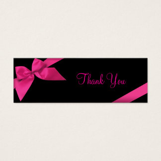 Cartões de agradecimentos cor-de-rosa da fita