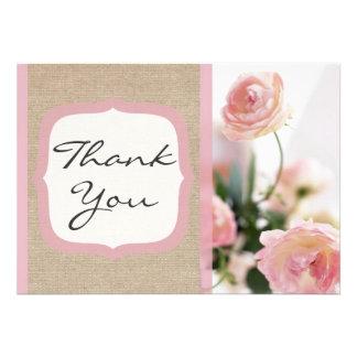 Cartões de agradecimentos cor-de-rosa da primavera convite personalizado