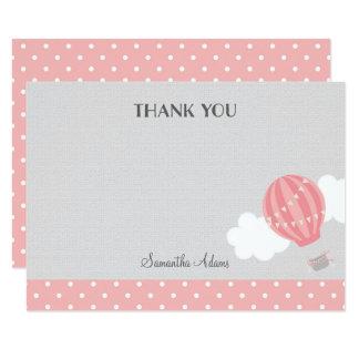 Cartões de agradecimentos cor-de-rosa do balão de