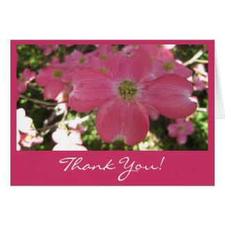 Cartões de agradecimentos cor-de-rosa do cão