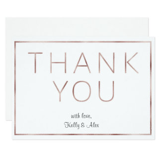 Cartões de agradecimentos cor-de-rosa do casamento