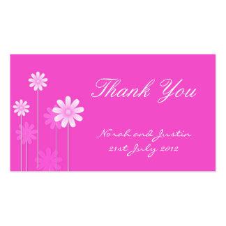 Cartões de agradecimentos cor-de-rosa do casamento cartoes de visita