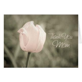 Cartões de agradecimentos cor-de-rosa do dia do
