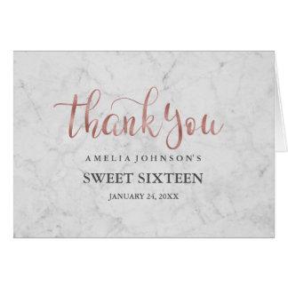 Cartões de agradecimentos cor-de-rosa do doce