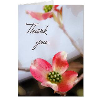 Cartões de agradecimentos cor-de-rosa do Dogwood