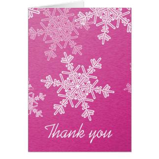 Cartões de agradecimentos cor-de-rosa do Natal dos