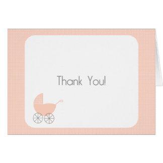 Cartões de agradecimentos cor-de-rosa do Pram das