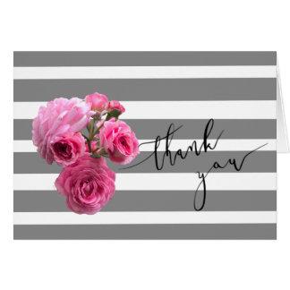 Cartões de agradecimentos cor-de-rosa do romance