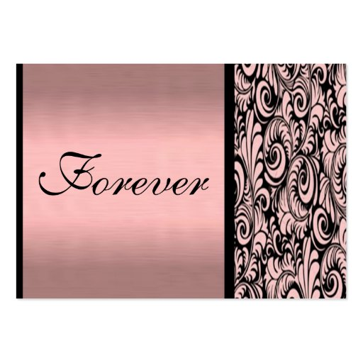 Cartões de agradecimentos cor-de-rosa e pretos de  modelos cartões de visitas