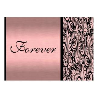 Cartões de agradecimentos cor-de-rosa e pretos de cartão de visita grande